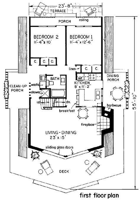 a frame cabin plans free house plan 43048 at familyhomeplans com