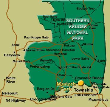 Kruger National Park South Africa Map