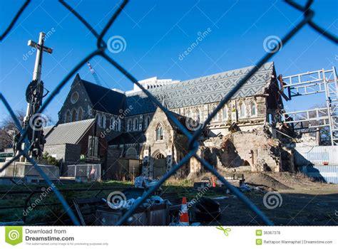 cath 233 drale de christchurch dameged par tremblement de terre