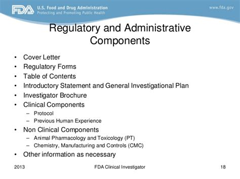fda ind cover letter fda 2013 clinical investigator course how do i