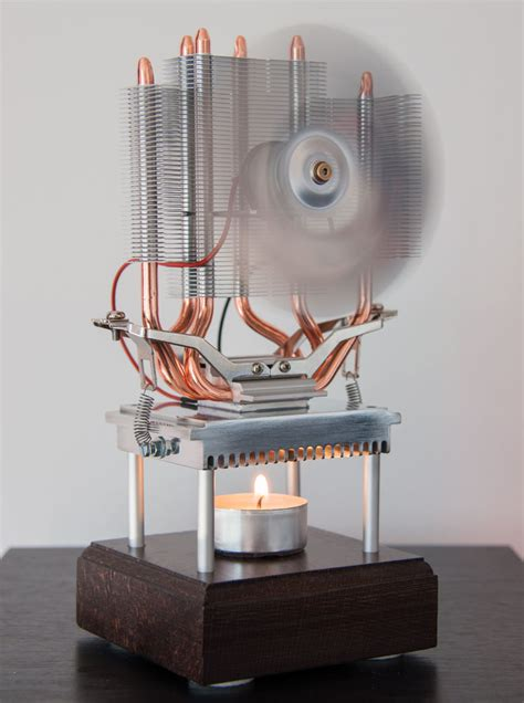 Nanotech2day Thermoelectric Fan Powered By A Candle