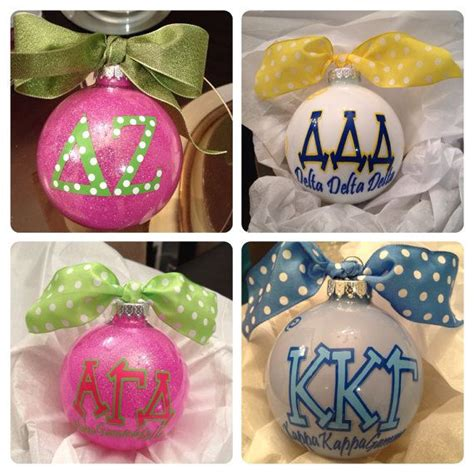 greek sorority or fraternity personalized christmas themed