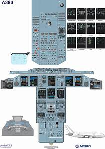 This Is A Cockpit Diagram Of The Airbus A380 Used For Pilot Training  Available As A Download