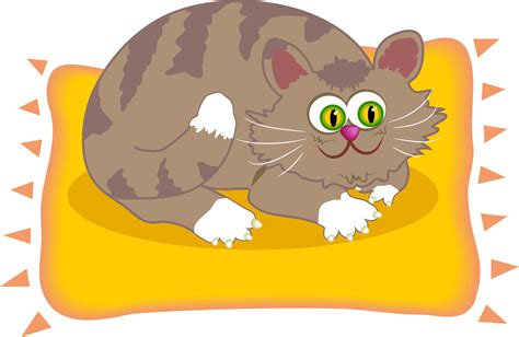 scaredy cat scaredy cat sitting on the doormat cat on the mat free images at clker vector clip