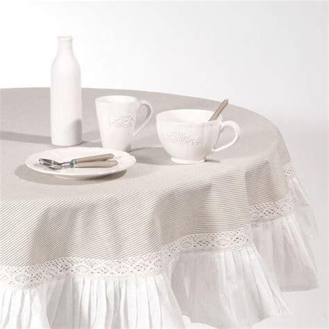 faire une nappe ronde nappe ronde 224 volants en coton beige d 180 cm sorgues id 233 es pour la maison