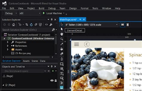 blend visual studio erase template universal windows development apps visual studio