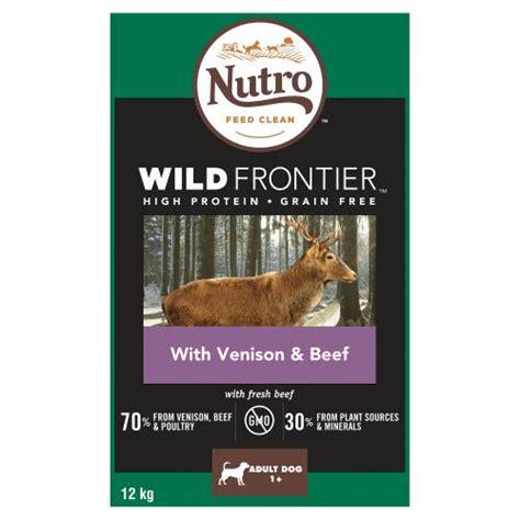 food frontier venison dog nutro wild dry beef adult medium chicken waitrose grain protein recipe