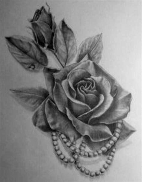 add lace!!!   Pearl tattoo, Tattoos for women, Rose tattoos