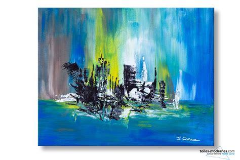 chambre couleur marron tableau bleu marron abstrait ville magique moderne