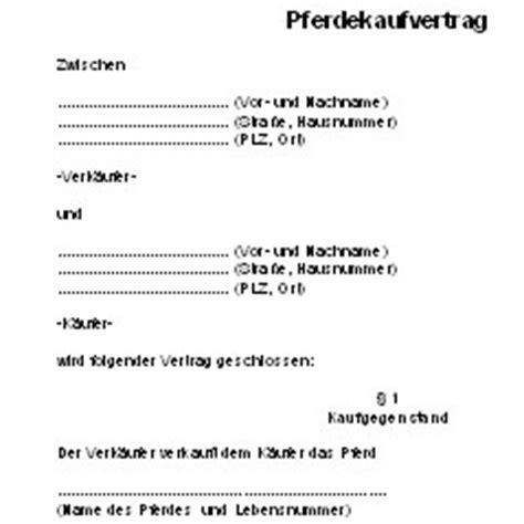 pferdekaufvertrag deutsche anwaltshotline