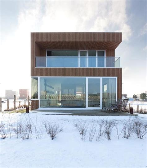 metal glass  wood homes  snow modern house designs