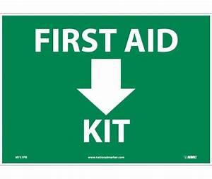 FIRST AID (ARROW) KIT, 10X14, .040 ALUM   National Marker ...