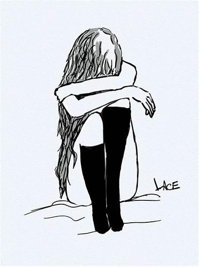 Depressed Crying Drawing Sad Drawings Getdrawings