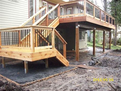 Two Story Deck Ideas by Two Story Decks With Stairs Deck Stairs Http Www