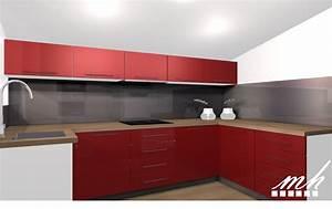 Idee de deco pour chambre 14 cuisine rouge bordeaux but for Idee deco cuisine avec cuisine couleur rouge bordeaux