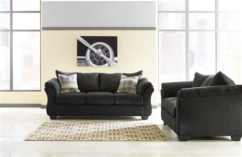 Furniture Loveseats by Majik Darcy Black Sofa And Loveseat Rent To Own