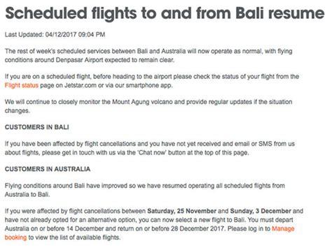 bali volcano travel update flights back to