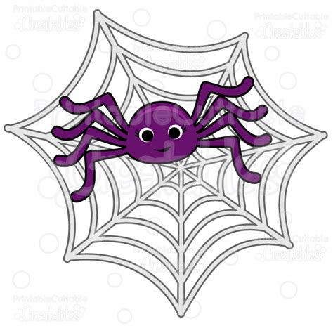 Spider Web Clip Spider In Spiderweb Svg Cut File Clipart