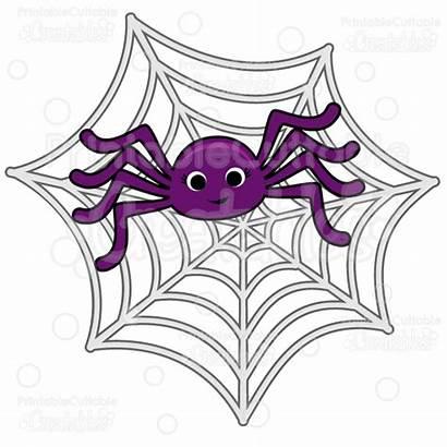 Spider Spiderweb Clipart Svg Cut Cutting Creepy