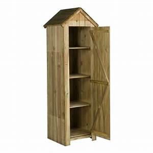 Armoire De Terrasse : armoire de rangement en bois x 46 x cm autres marques jardinerie truffaut ~ Farleysfitness.com Idées de Décoration
