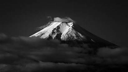 Fuji Mount Monochrome Wallpapers 4k Japan Snow