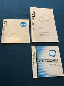 Nintendo Ds Lite Instruction Booklet  Pictochat  U0026 Wi