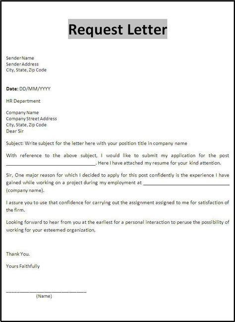 request letter template templates application letters