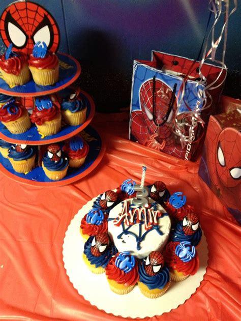 spiderman cake  cupcake  sams clubonly  total cupcakes  personal cake