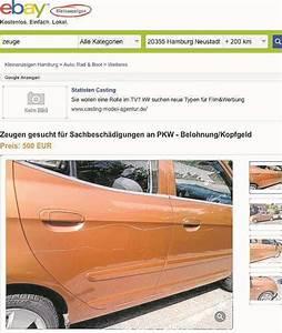 Ebay Kleinanzeigen Hamburg : kopfgeld auf auto kratzer bei ebay ausgesetzt hamburg ~ Markanthonyermac.com Haus und Dekorationen
