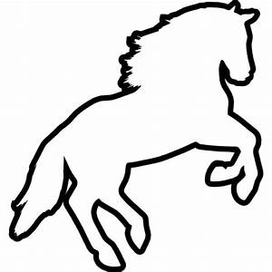 Jumping horse silhouette facing left side view Icons ...
