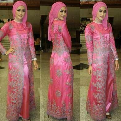 gambar model baju muslim kebaya wisuda desain terbaru terpopuler