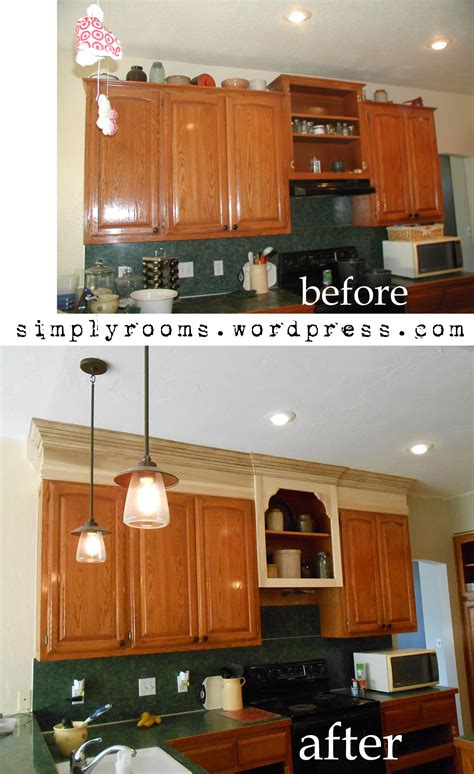 space between kitchen cabinets and ceiling project making an upper wall cabinet taller kitchen