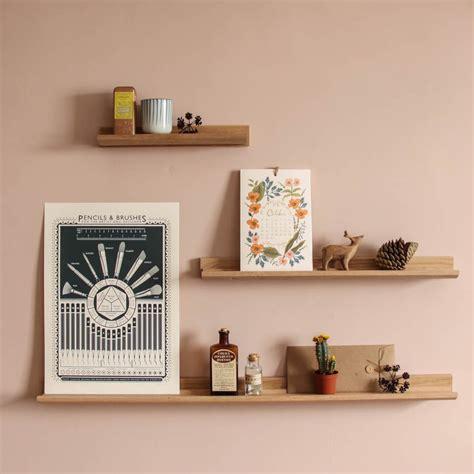 Shelves Uk by Oak Picture Ledge Accessory Shelves