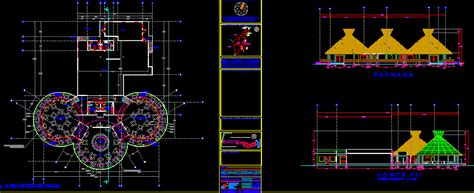 restaurant project hotel  dwg plan  autocad