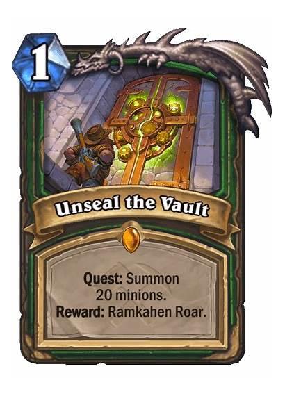 Hunter Hearthstone Legendary Quest Unseal Vault Card