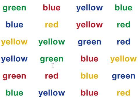 stroop color word test memory demos