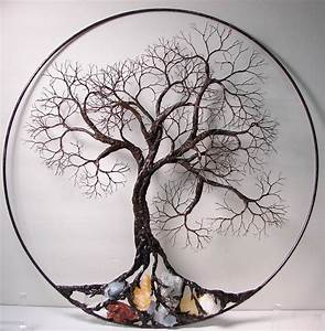 wire tree of life ancient spirit sculpture with natural With tree of life wall art