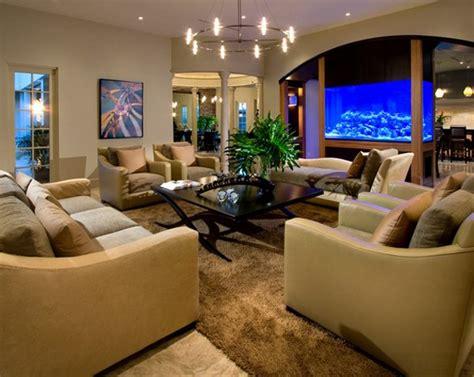 contemporary living room designs  fish tanks home