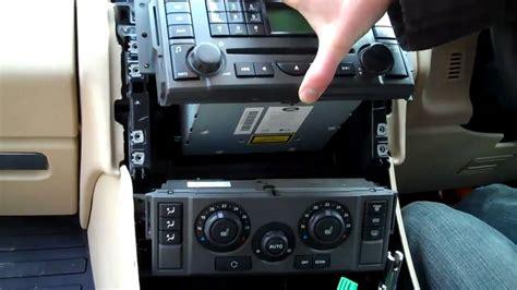 remove stereo heater contols  range rover sport