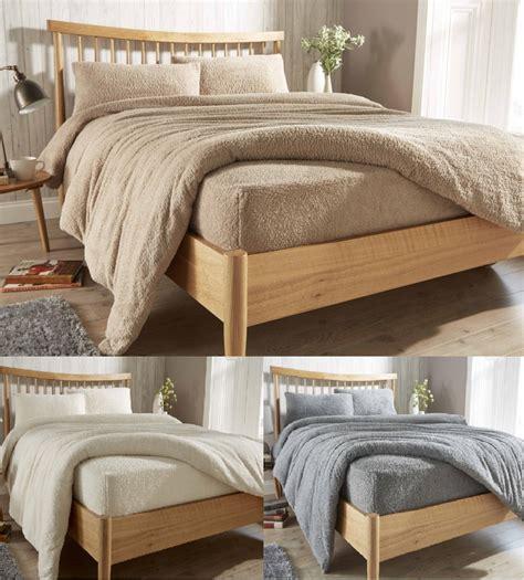 fleece fitted sheet teddy fleece fitted sheets cozy warm bed linen 3769