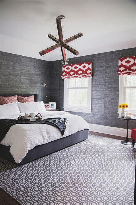 red  gray bedroom design ideas