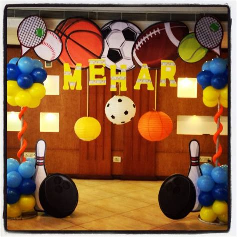 sports decorations google search jacksons  bday