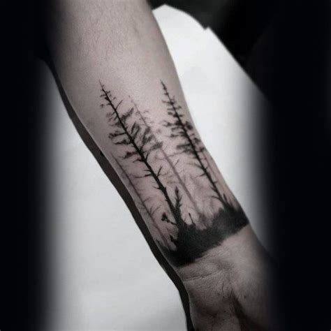 forearm tree tattoo designs  men forest ink ideas