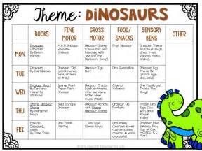 Dinosaur Theme Preschool Activities