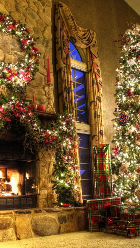 wallpaper  year fireplace decor fir tree fire