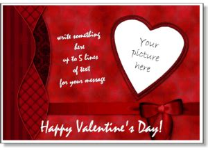 valentines photo card templates add  picture