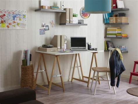 bureau treteaux 39 idées déco de tréteaux pour créer une table ou un