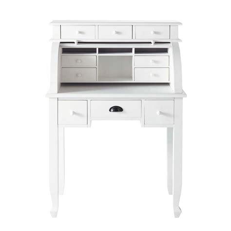 bureau romantique blanc bureau secrétaire blanc l 82 cm freeport maisons du monde