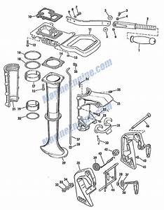 Johnson Lower Unit Group Parts For 1966 5hp Ldl