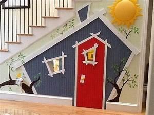 Kids Indoor Playhouse Under Stairs Home Design, Garden